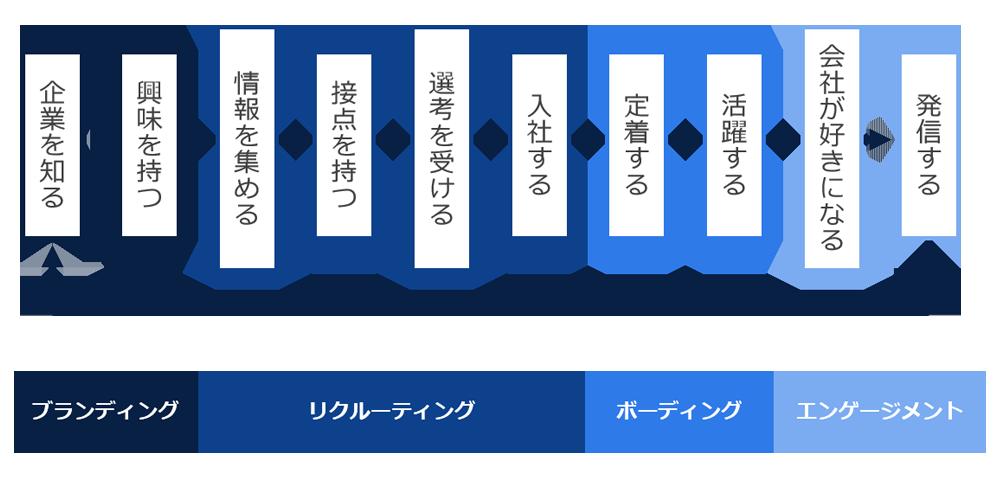 採用ブランディングでの採用サイクル